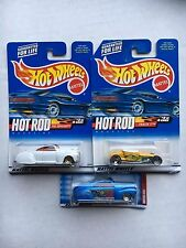 Lot of 3 HOT WHEELS: Hod Rod Magazine 2 Tail Draggers,1 Track T