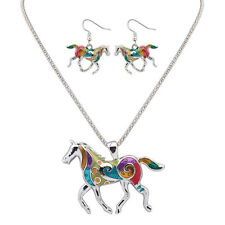 Western Jewelry Set Horse Necklace And Earrings