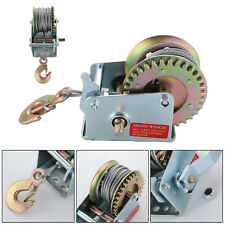 600LB MANUAL BOAT MARINE TRAILER HAND POWERED WINCH + 8m WIRE CABLE + HOOK