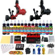 Solong Tattoo Kit 2 Tattoo Machine Gun Set 14 Ink Power Supply Needle TK249