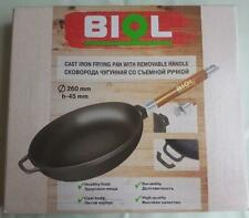 CAST IRON FRYING PAN WITH REMOVABLE HANDLE  Diameter 26 cm