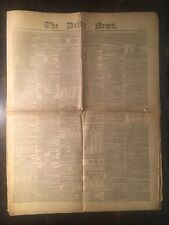 CHARLES DICKENS - THE DAILY NEWS - NUMBER ONE - 1846 - FIRST EDITION - VERY RARE