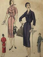 1950s Vogue Vintage Sewing Pattern Dress 8767 Bust 34