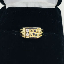 14k Solid Gold Cubic Zirconia Baby Ring