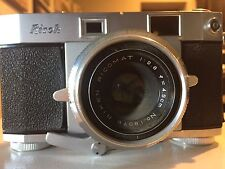 Ricoh 500 No. 76933 Riken Ricomat 1:2.8 f=4.5cm Vintage Camera Seikosha -SLV