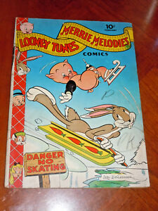 LOONEY TUNES MERRIE MELODIES #16 (1943) VG (4.0) cond. BUGS BUNNY PORKY PIG