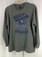 Harley Davidson Gator Leesburg Mens Crew Neck Sweater Sweatshirt Gray 2XL
