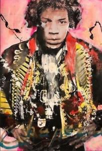 Ronald Chapeau Acrylic on paper Hand signed Original 2019 Jimi Hendrix