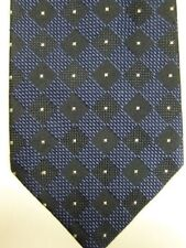 NEW $95 Altea Milano Blue with Black Diamonds Silk Tie Made in Italy