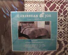 Caribbean Joe Caribe Brown Reversible Microfiber 4 Piece Queen Comforter Set