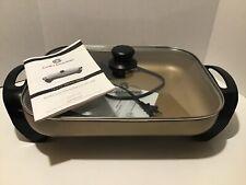 "Cook's Essentials 12 x 15"" Electric Skillet - Bronze"