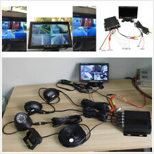 Bus Truck 4CH Video Recorder 7inch LCD Monitor CCD Front Rear Night Vison Camera