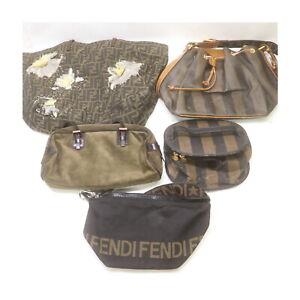 Fendi Canvas Suede Leather PVC Nylon Hand/Shoulder/Vanity Bag 5pc set 525412