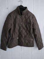 Lucas Oil Eddie Bauer Womens Brown Quilted Poly Light Coat Jacket Sz Medium M