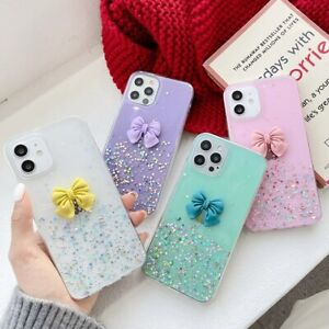 for Xiaomi Redmi Girly Phone Case Bling Cute Bowknot Protective Covers for Women