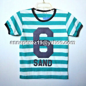 20% OFF! AUTH JUSTEES BOY'S GRAPHIC STRIPE TEE SIZE 10 / 9-10 YRS BNWT P 249