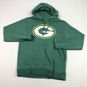 Green Bay Packers Hoodie Mens Large Pullover Sweatshirt Fanatics NFL Football