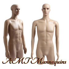 Male Mannequin dress form with rotated arms and head plastic Torso Mt-2C
