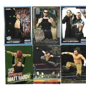 TOPPS TNA FLEER WWE 6 MATT HARDY WRESTLING CARDS A NICE MIX
