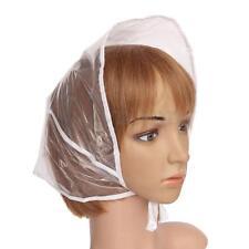 Reusable Women Waterproof Plastic Rain Hat White Clear Hair Bonnet Hats Cap
