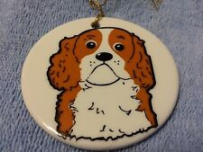 KATHERINE WASHBURN CERAMICS: DOG CHRISTMAS ORNAMENT #4