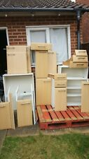 Beech Kitchen Cabinet Cupboard Doors & Drawers - Flat Pack Fairly Used Condition