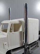 Aluminum Pair Exhaust Pipe Stack Adapter for Tamiya 1/14 Semi King Hauler Truck