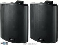 Monacor Aktives 2-Wege-Stereo-Lautsprecherboxen-System MKA-80SET/SW