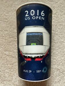 2016 US Open souvenir beer/drinks cup design shows opening/closing roof effect