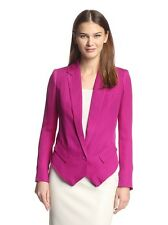 Haute Hippie Pink Open Cowl Back Silk  Blazer,jacket   size 4