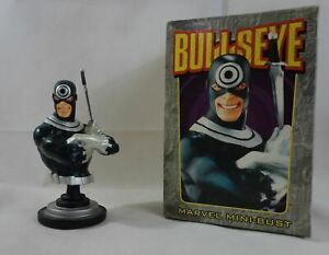 "MARVEL mini-bust BULLSEYE n°2373/5000 BOWEN Designs 2002 5.5"" Daredevil Elektra"
