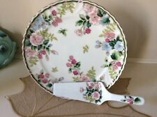 Porcelain Cake Plate Plate And Server Exceed Bon Grand Berry 10 3/4""