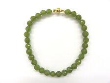 Serpentin facett. Armband 19,5-22 cm Magnet New Jade Bracelet Nr. 4740