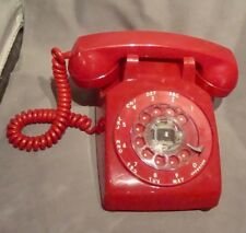 Vintage Stromberg-Carlson Red Rotary dial Telephone