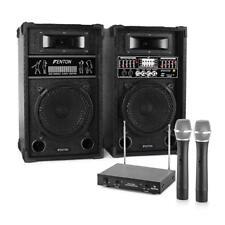 Impianto Karaoke Audio Coppia Casse Attive Radiomicrofono Professionale MP3 USB