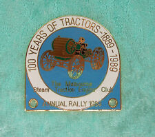 GRILLE / CAR BADGE - 100 YEARS OF TRACTORS 1889 - 1989 - THE MSTEC ANNUAL RALLY