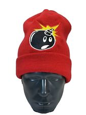 The Hundreds Beanie Winter Toque Red Embroidered Large Bomb Like New
