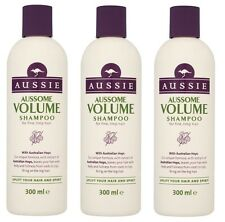 3 X Aussie Aussome VOLUME Shampoo Fine, Limp Hair 300ml