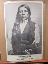 Black & White Indian Poster Uncloghe-luta Red Shirt Oglala ca.1880 in#G960