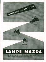 Publicité ancienne lampe Mazda 1951 issue de magazine