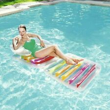 FOLDING BESTWAY 79X35 INCH LOUNGE LILO CHAIR BEACH SWIMMING POOL INFLATABLE