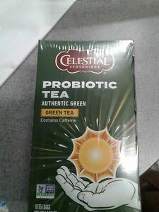 Celestial Seasonings Probiotics Tea Herbal Authentic green tea,  18 bags