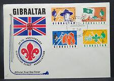 Gibraltar FDC Ersttag Boy Scouts Jamboree Pfadfinder Brief (Lot 9660