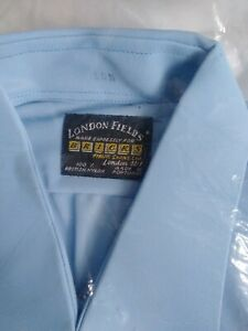 Vintage New in Original Packaging 1970s Mens Blue Nylon Formal Shirt 👔👀🛍