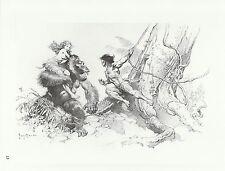 "1996 Full Color Plate "" Tarzan Triumphant "" by Frank Frazetta Fantastic GGA"