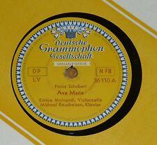 78 RPM gomma lacca Schubert AVE MARIA Schumann sera canzone Mainardi fumo FERRO DGG