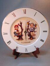 Hummel Clock Apple Tree Boy and Girl Hermle Germany Ceramic Plate Danbury Mint