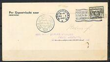 IJSPOSTVLUCHT s-GRAVENHAGE 30.I.1937 NES OP AMELAND 3.II.1937    Kr86