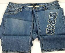 Sean John Mens Jeans Size 40 x 34 Blue Denim Straight Leg Broken In Minor Wear
