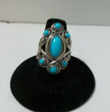 ***NWOT***Carolyn Pollack Sleeping Beauty Turquoise Sterling Ring Size 7